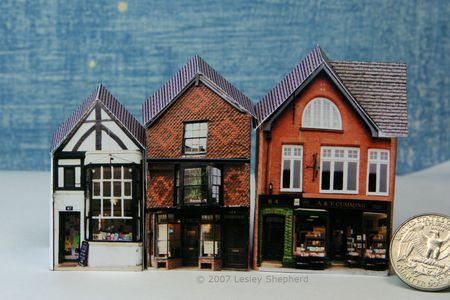 three tiny english village shops in 1 144 or micro scale