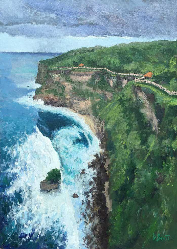 beginner oil painting landscape idea