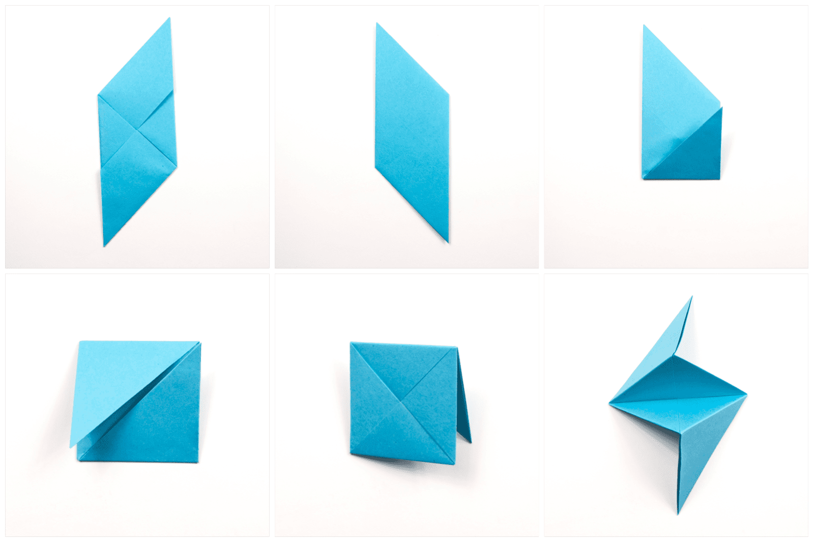 How to Fold 3D Origami Pieces - Make the 3D Origami Triangle Units ... | 1066x1600