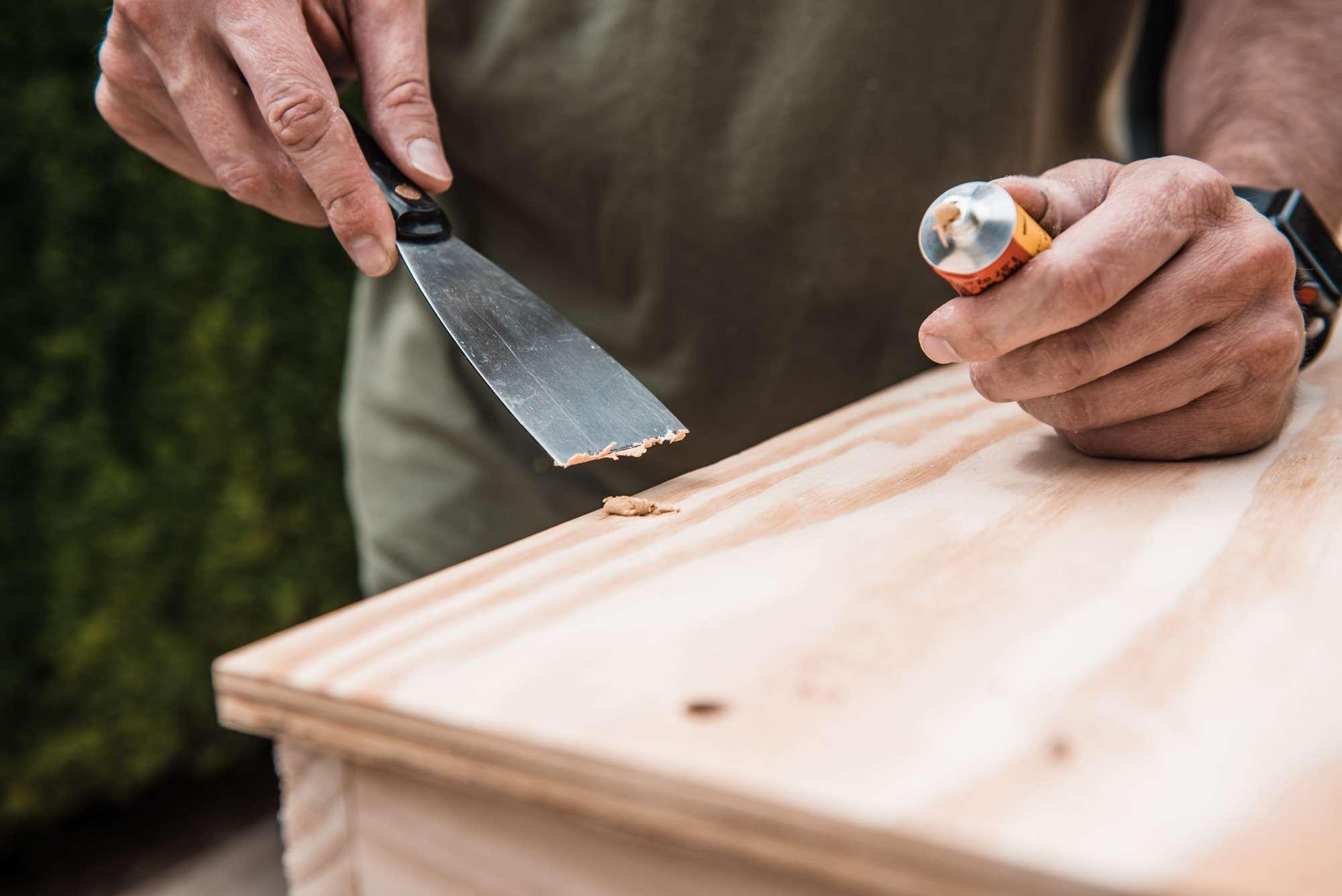 using wood filler