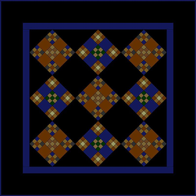 Miniature Double Nine Patch Quilt Pattern