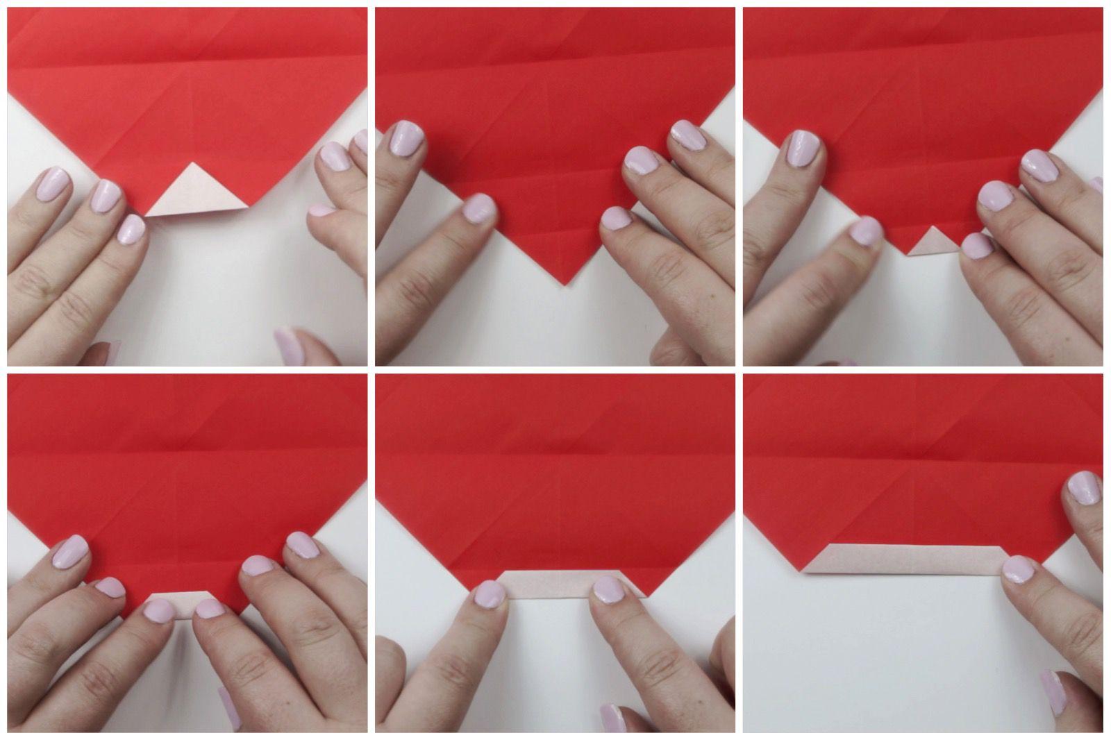 Santa Claus origami | Christmas origami, Origami crafts, Origami | 1066x1600