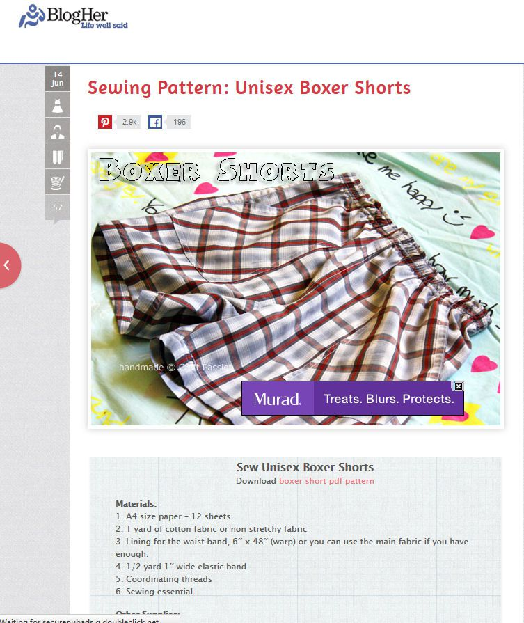 40 Free Boxers And Underwear Sewing Patterns Impressive Boxer Pattern
