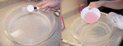 Add salt to the bowl