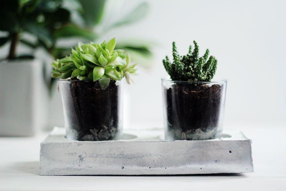 concrete base for planters