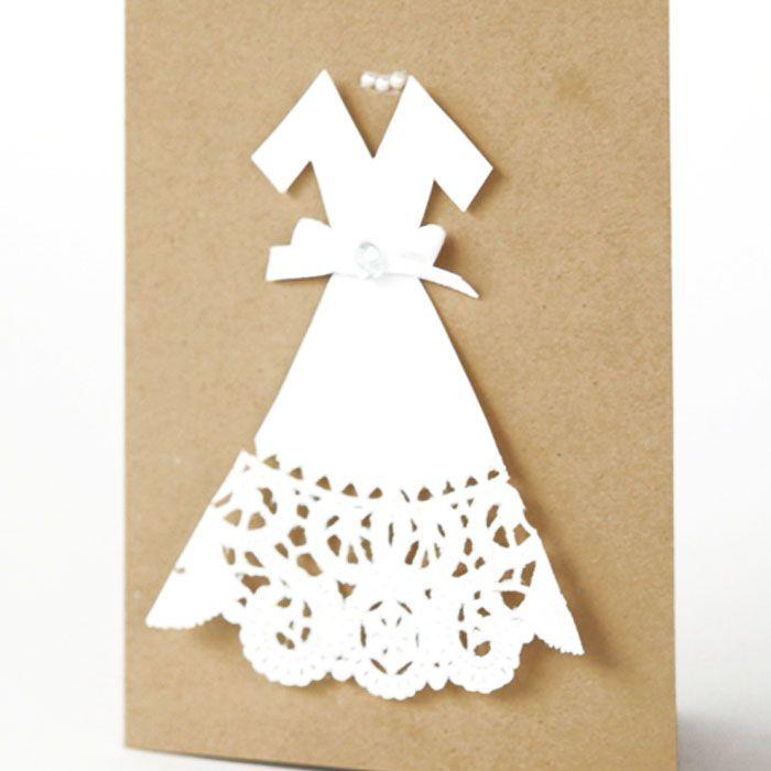 doily wedding dess card