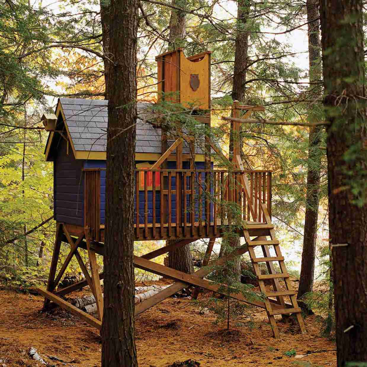11 Free Diy Tree House Plans
