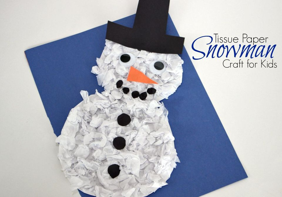 Winter Snowman Crafts For Kids