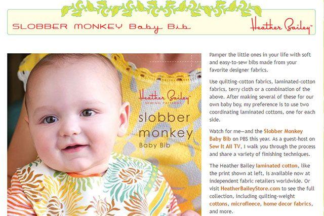 slobber monkey baby bib