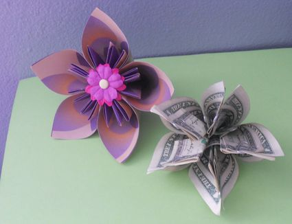 How to make a simple bouquet of origami money flowers 7 steps to a pretty money origami kusudama flower mightylinksfo