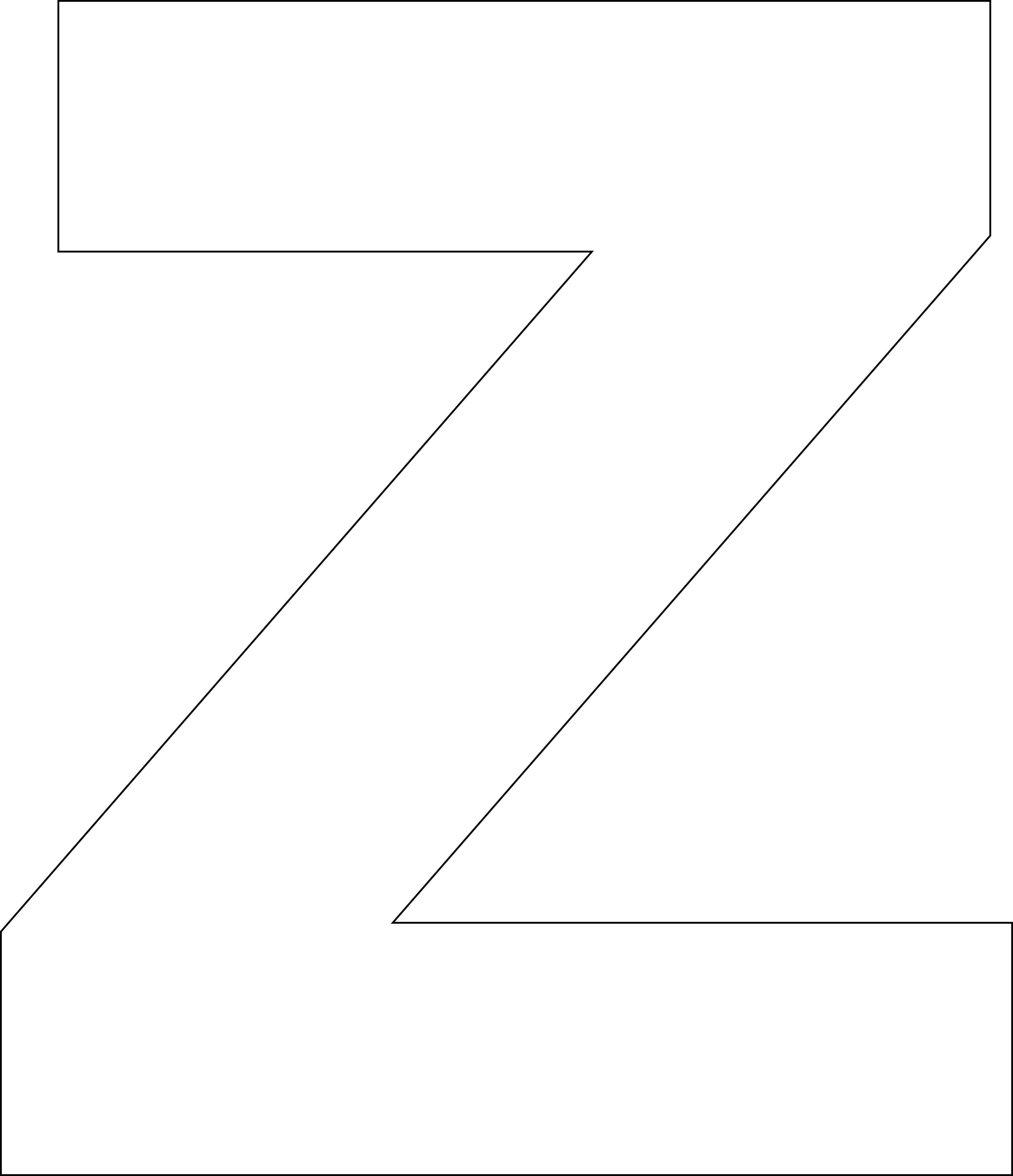 Free Printable Z Template