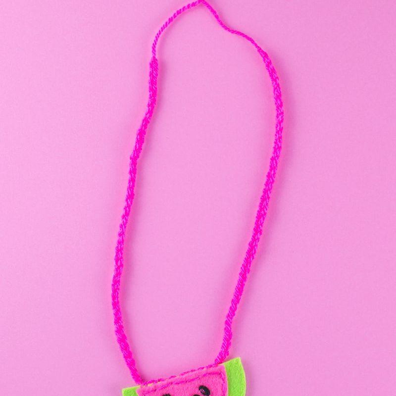 a DIY felt watermelon necklace