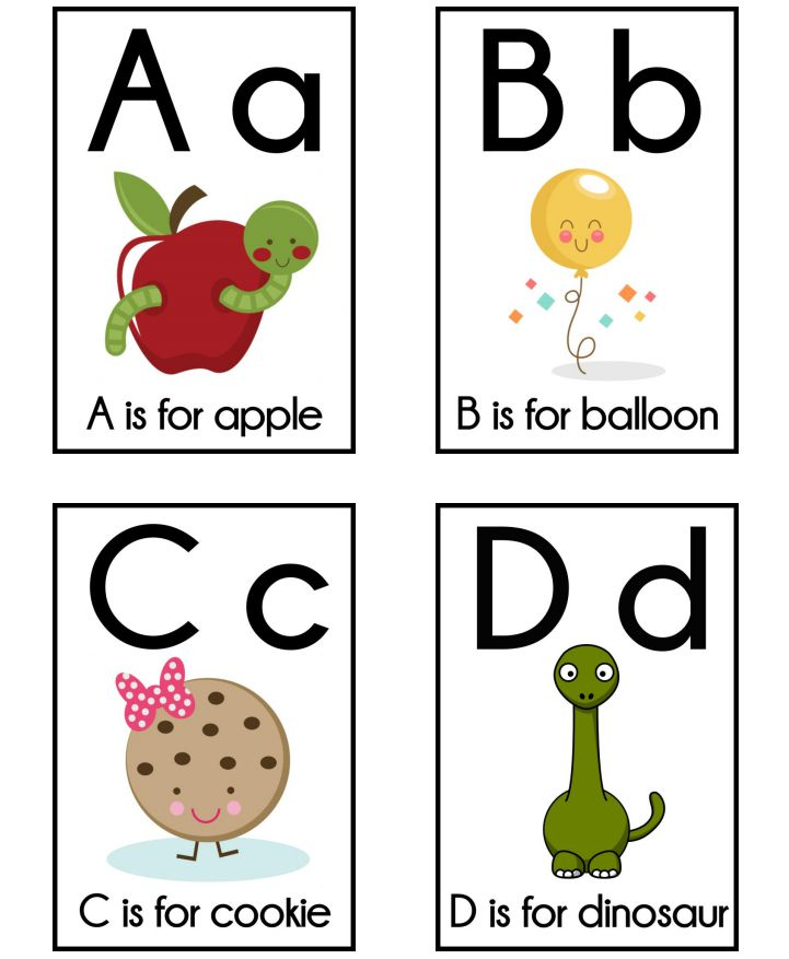 11 sets of free  printable alphabet flashcards