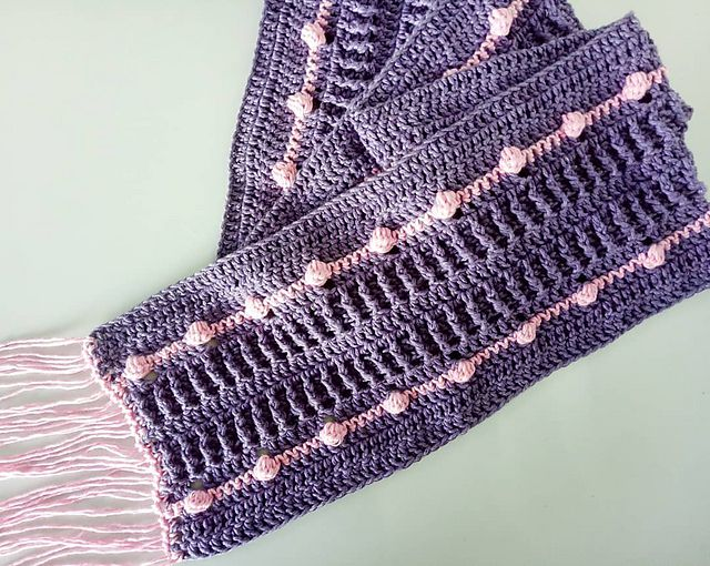 Cotton Crochet Summer Scarf Free Pattern