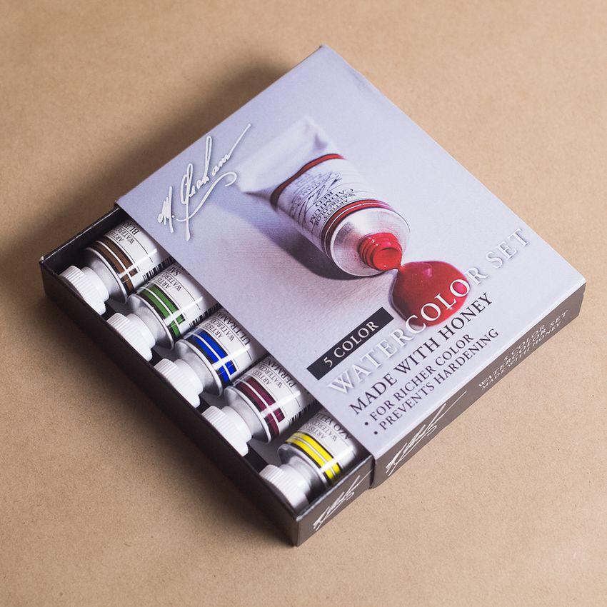 M. Graham Basic 5-Color Watercolor Set