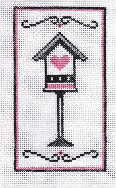 A heart box cross stitch
