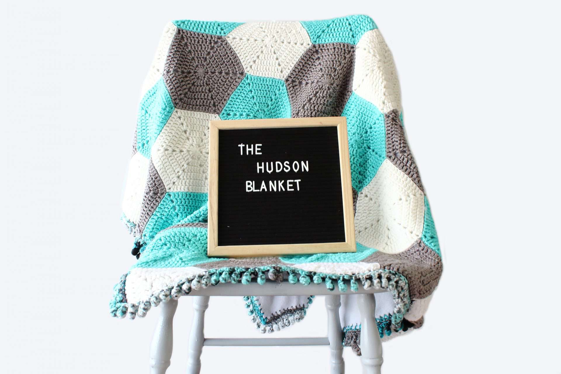 The Hudson Hexagon Baby Blanket