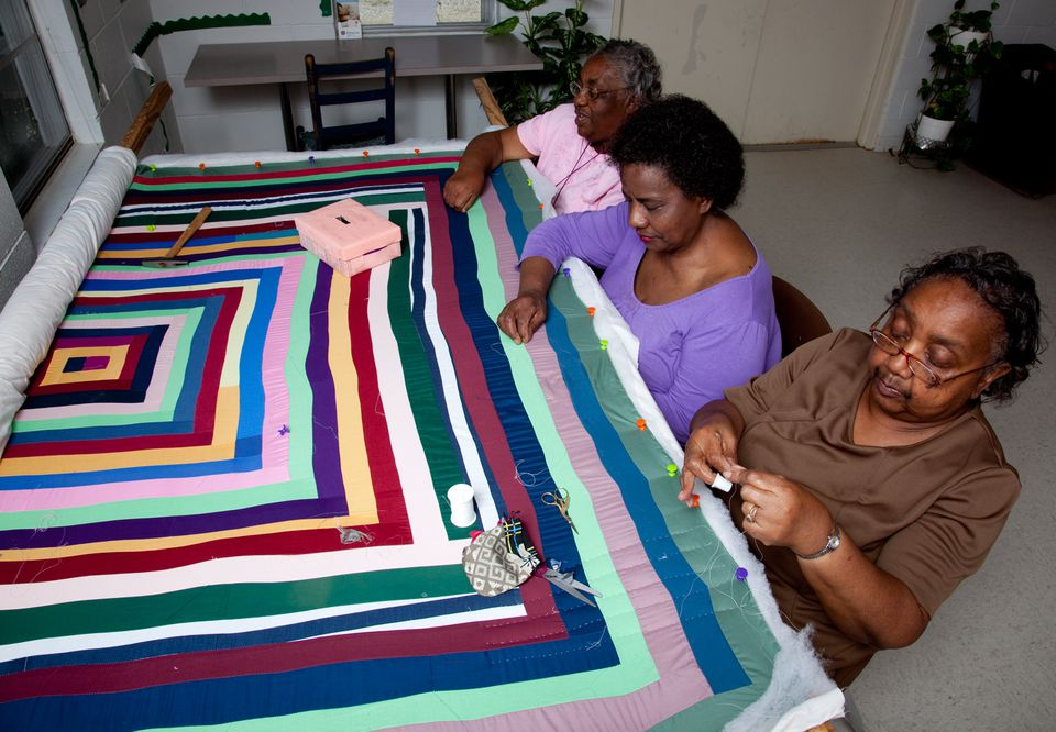 Quilting in Gee's Bend Alabama