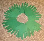 Advent Hand Print Wreath