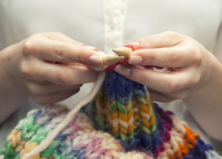 Bias Knit Scarf Free Knitting Pattern