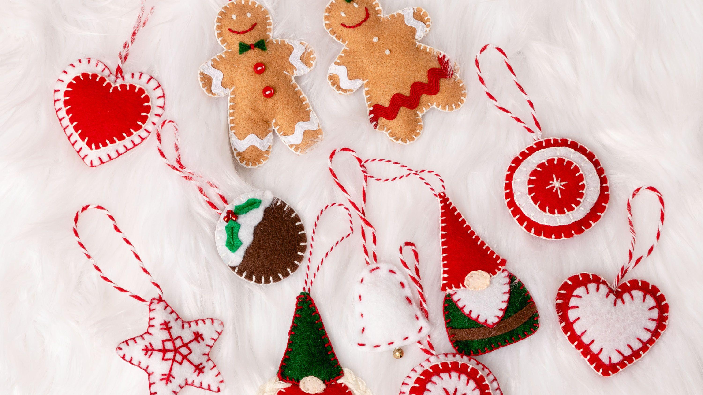 Felted Christmas ornament Felted ball Snowman Christmas decor Funny Christmas ornament Christmas felt ball Christmas deer Christmas gift