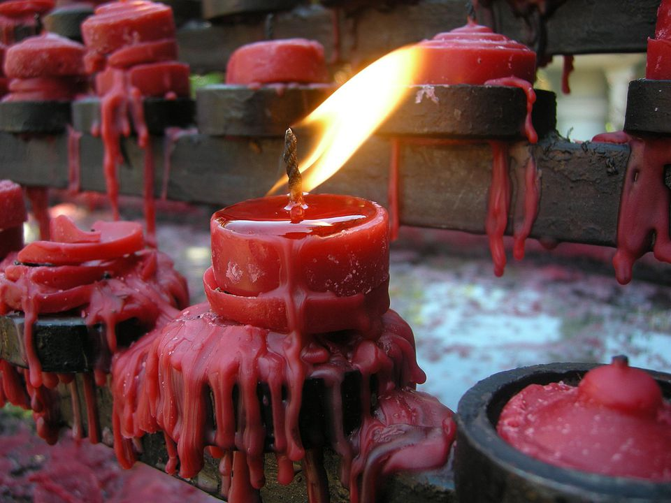 Melted candles