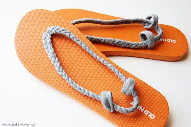 1991ccb24a0f9 20 Creative Ways to Make DIY Flip Flops