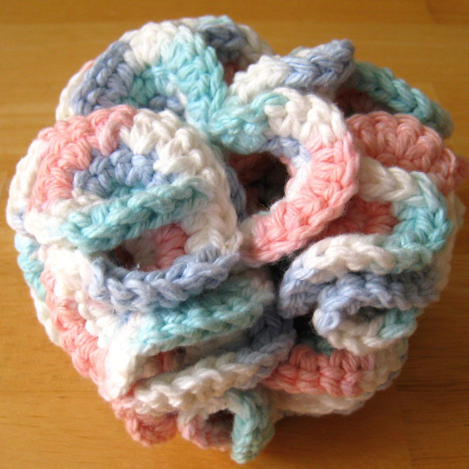 crochet bath puff