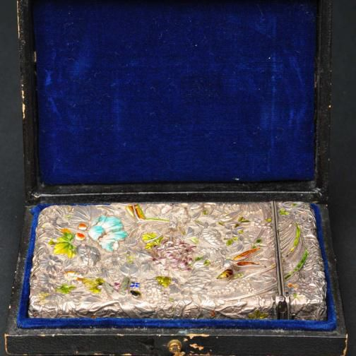 Victorian Enameled Calling Card Case