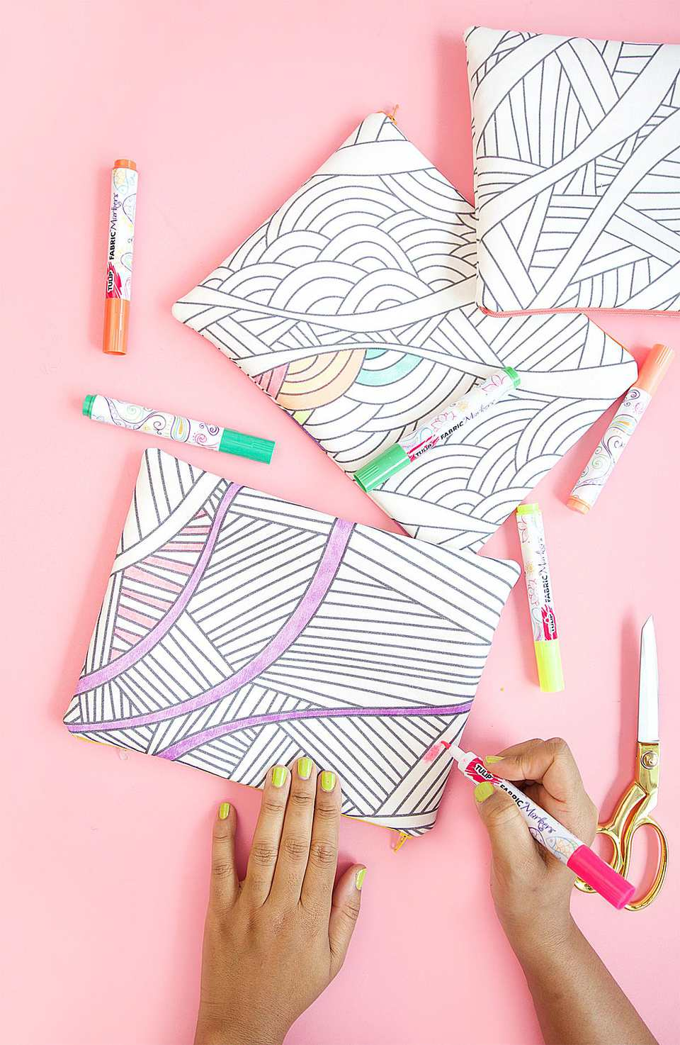 DIY coloring pencil case