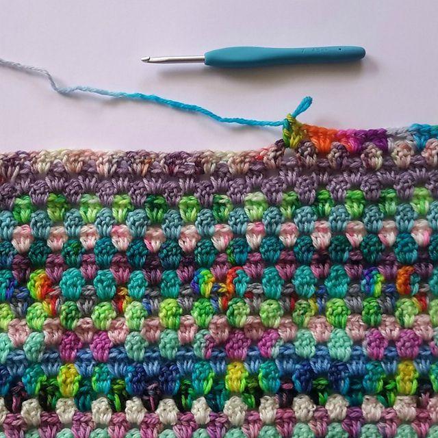 Scrap Yarn Granny Stripe Crochet Blanket