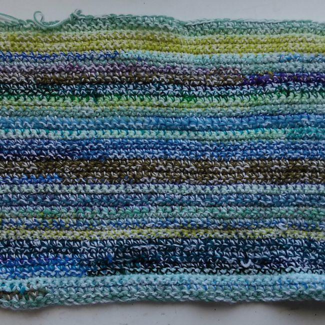 Single Crochet Scrap Yarn Blanket