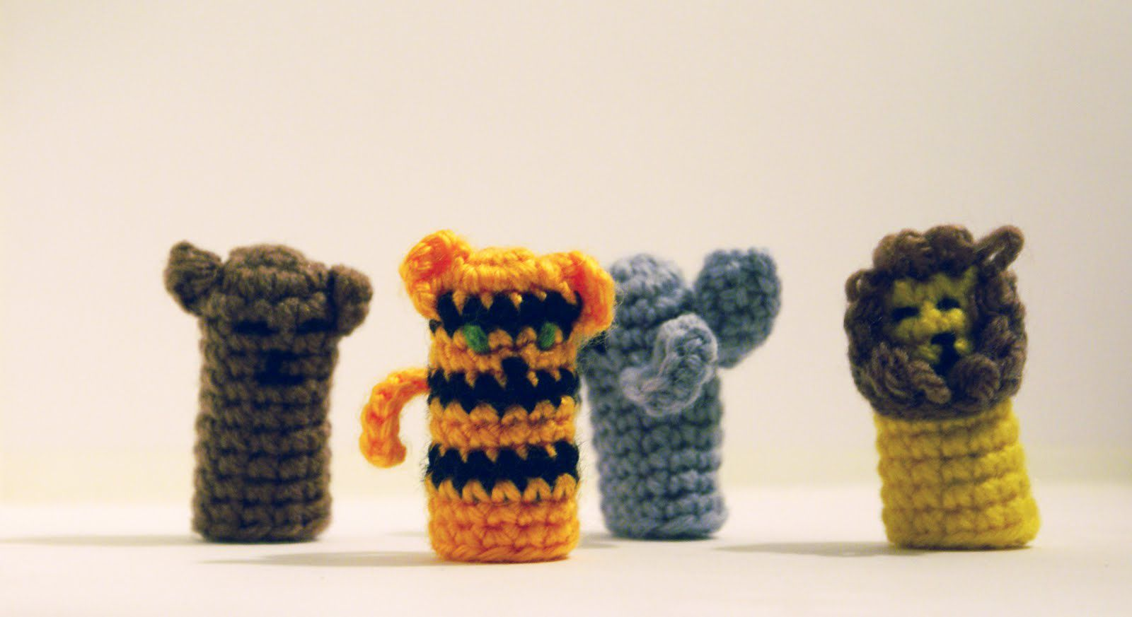 Crochet finger puppet animals