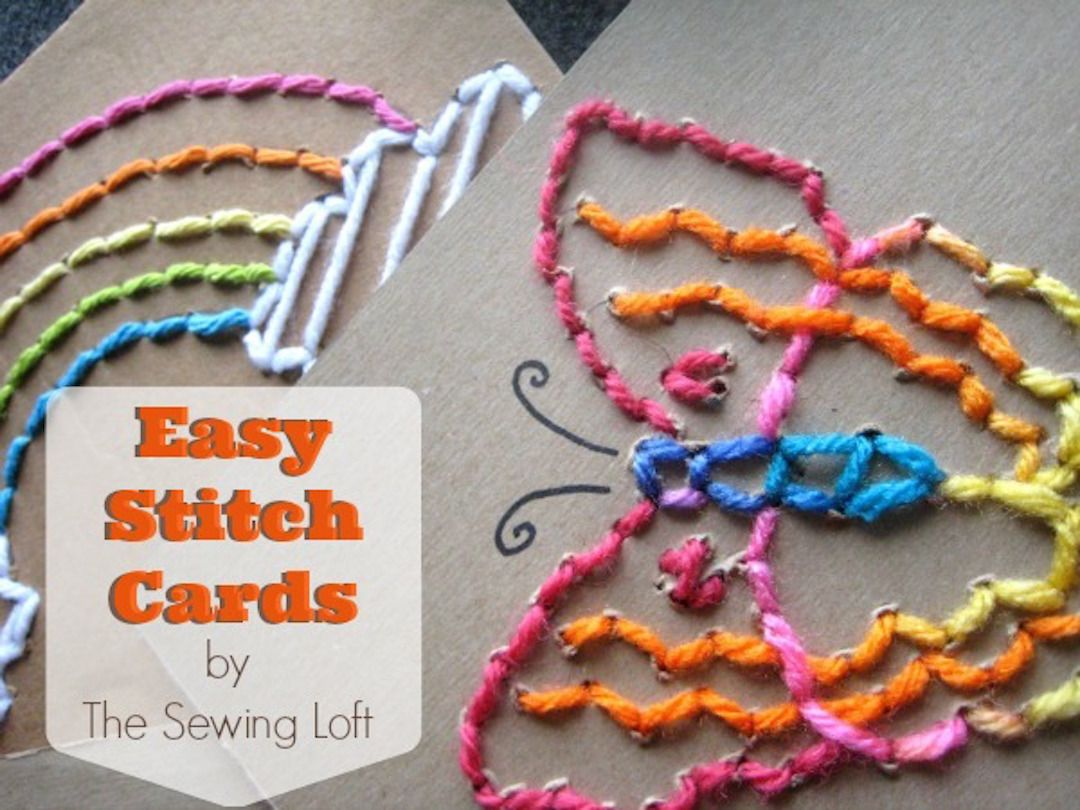 Easy stitched card