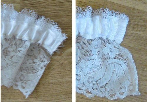 Garter with French seam
