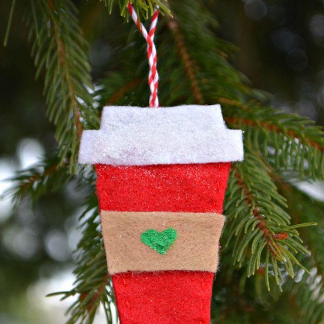 DIY Coffee Cup Ornament