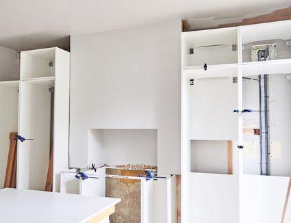 Still life of new kitchen units