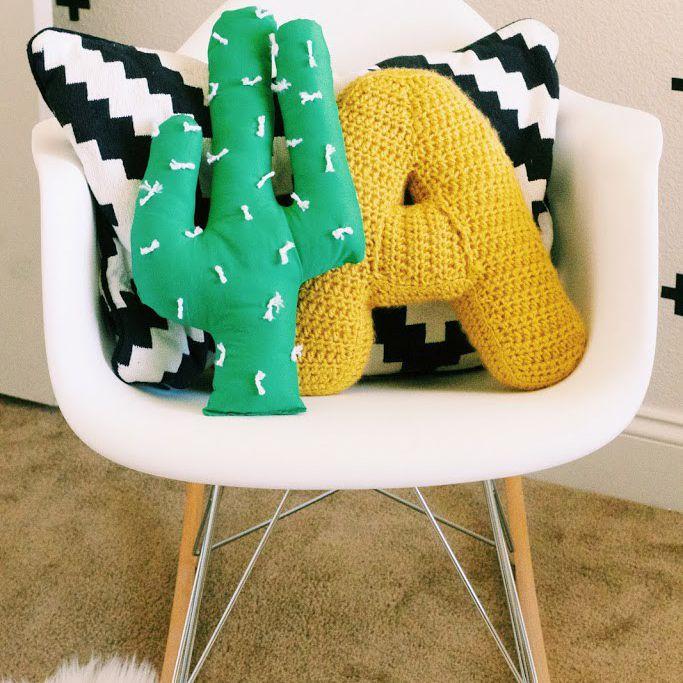 DIY Cactus Accent Pillow