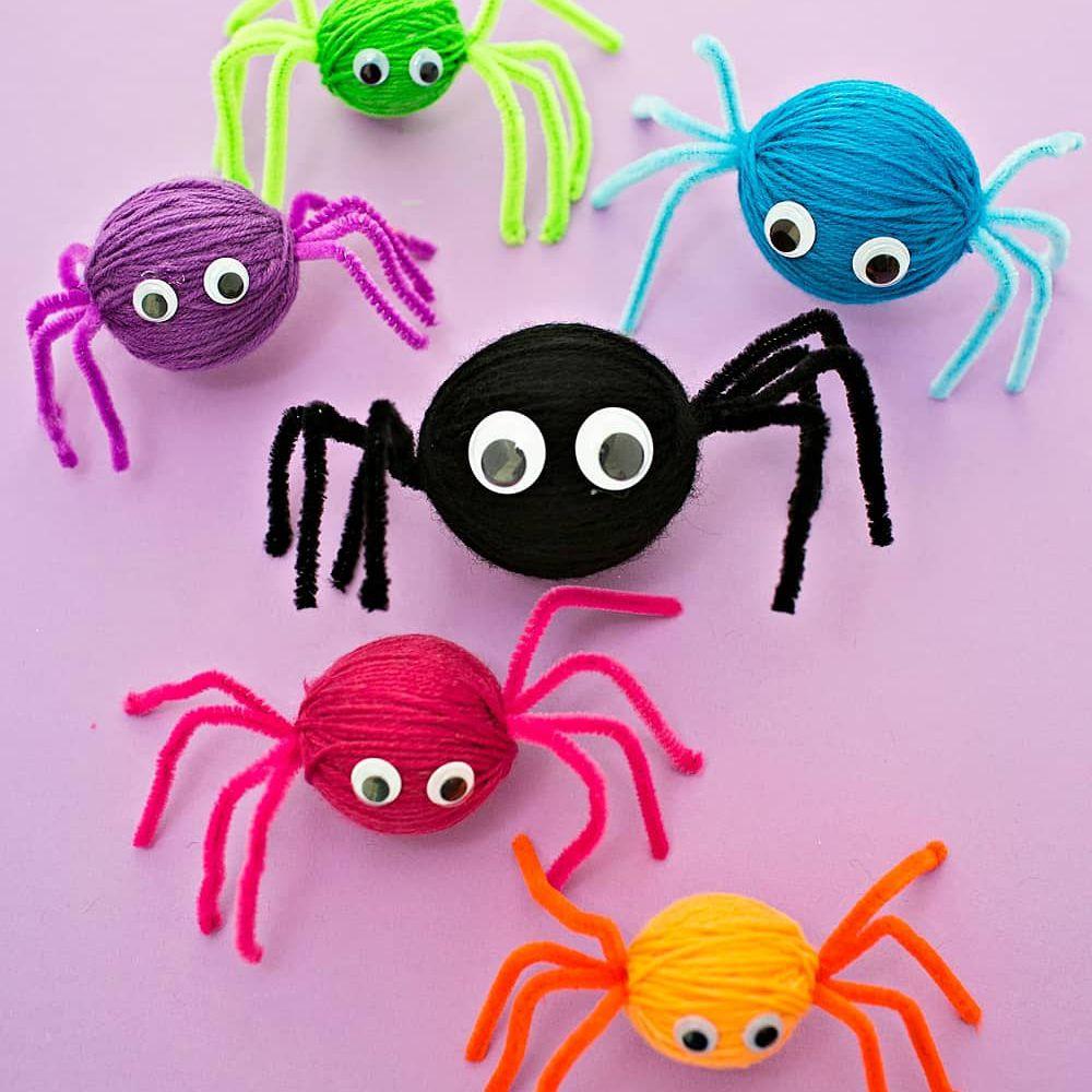 Yarn Spider Crafts