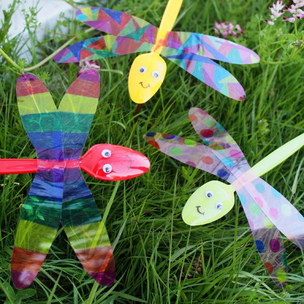 Spoon dragonfly craft