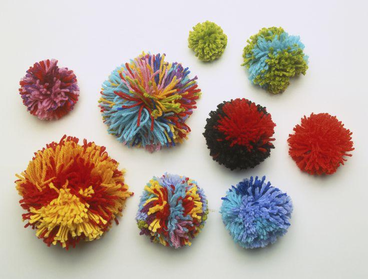 neutrals 5 tissue paper pom poms wedding decoration.htm easy yarn pom pom wreath with any yarn or design  easy yarn pom pom wreath with any yarn