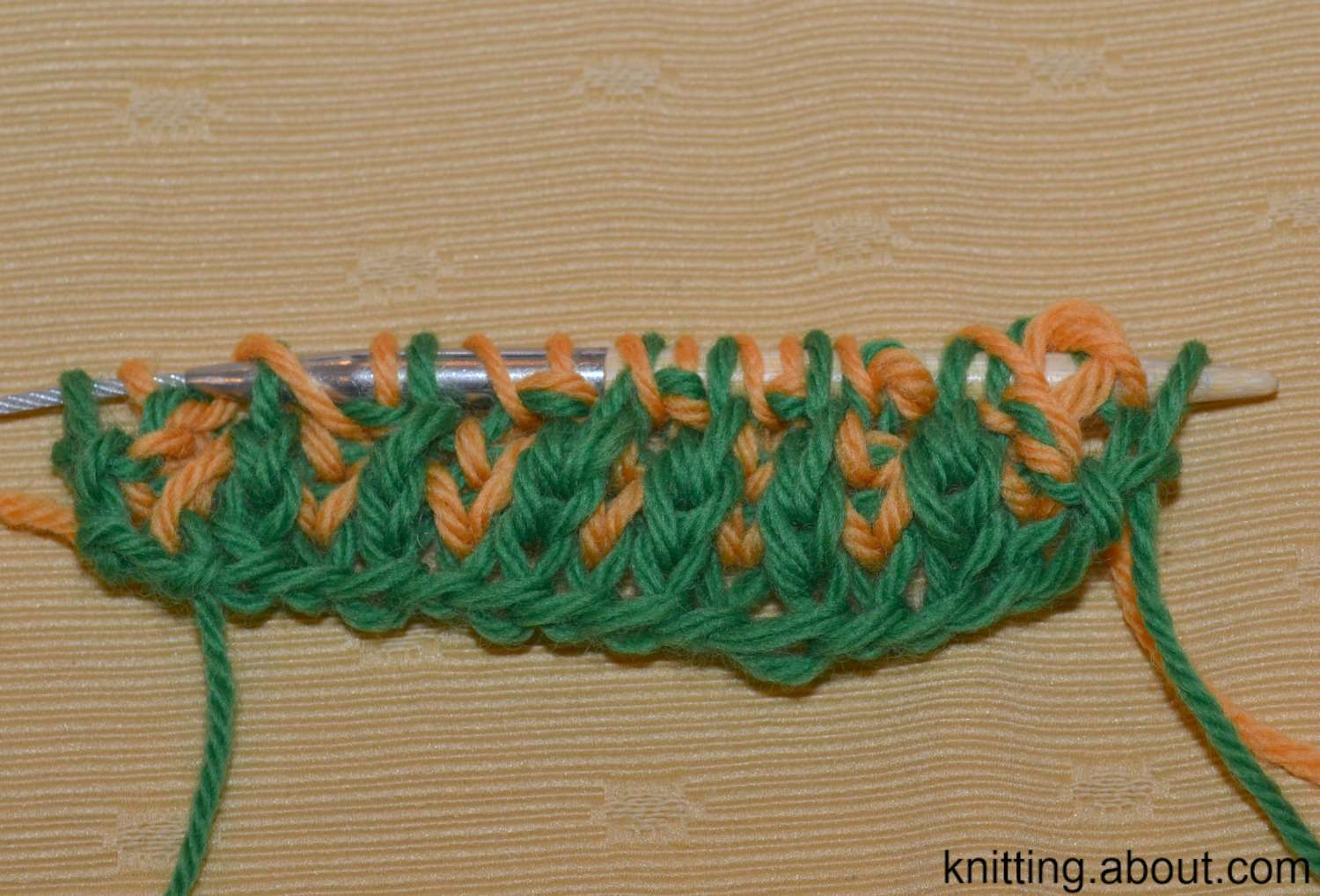 Knit Two Color Brioche Stitch