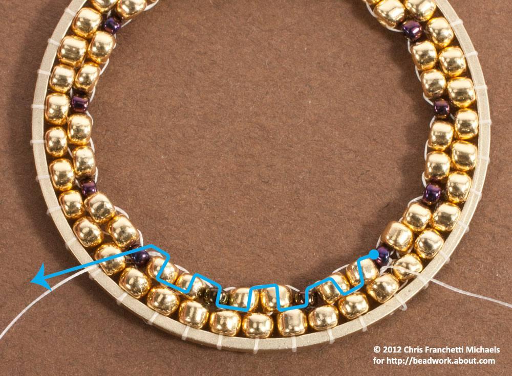Hoop beadwork earrings tutorial