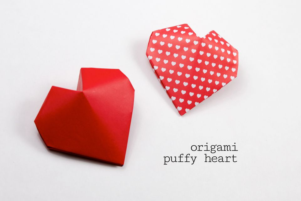 Origami Puffy Heart