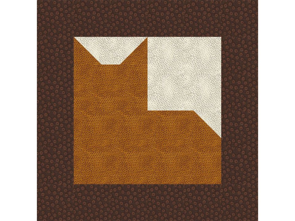 Cat quilt block pattern