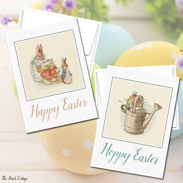 Two vintage Easter egg cards