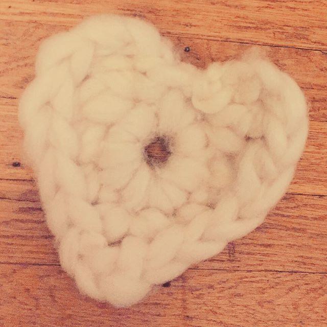 Chunky Crochet Heart
