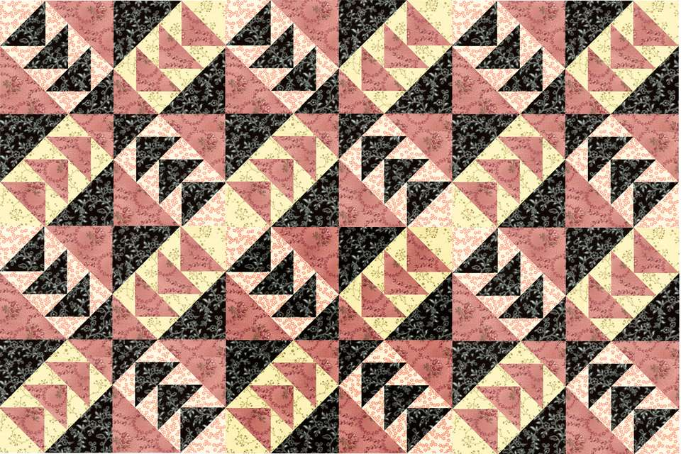 Windmills Quilt Block Pattern
