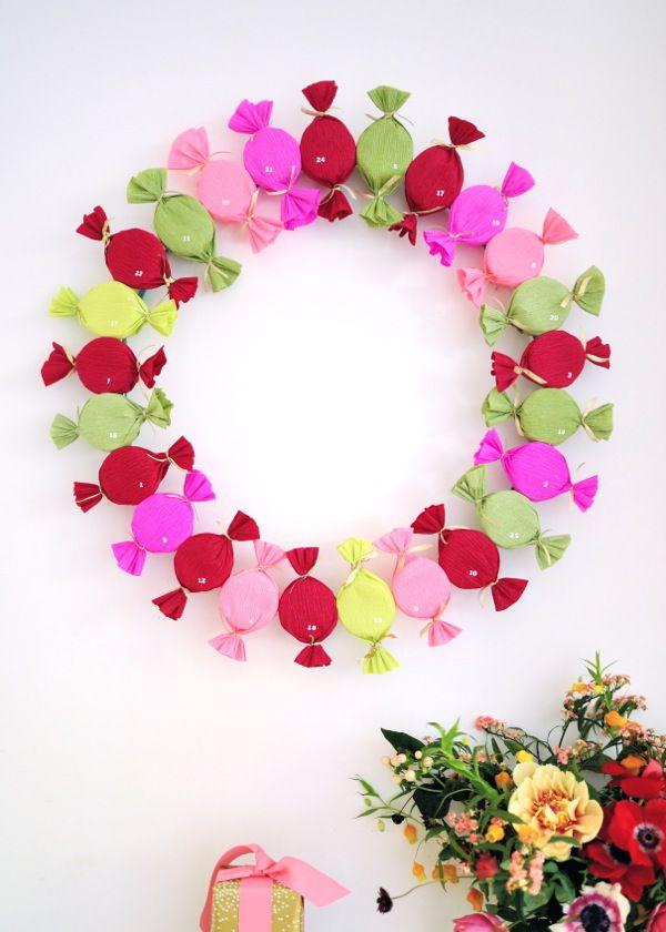 DIY Candy Advent Wreath