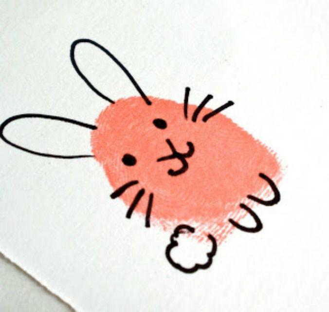 fingerprint bunny craft
